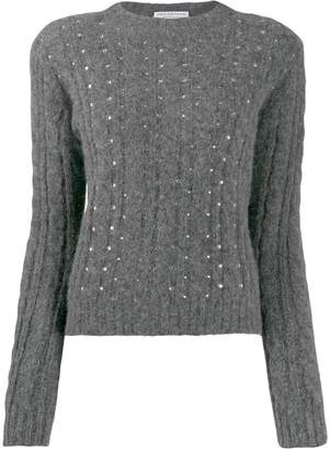 Philosophy di Lorenzo Serafini embellished cable knit sweater