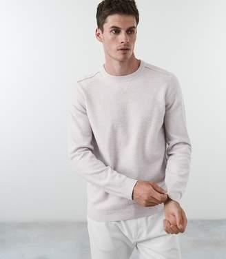 Reiss CAMBECK FELTED SWEATSHIRT Soft Grey