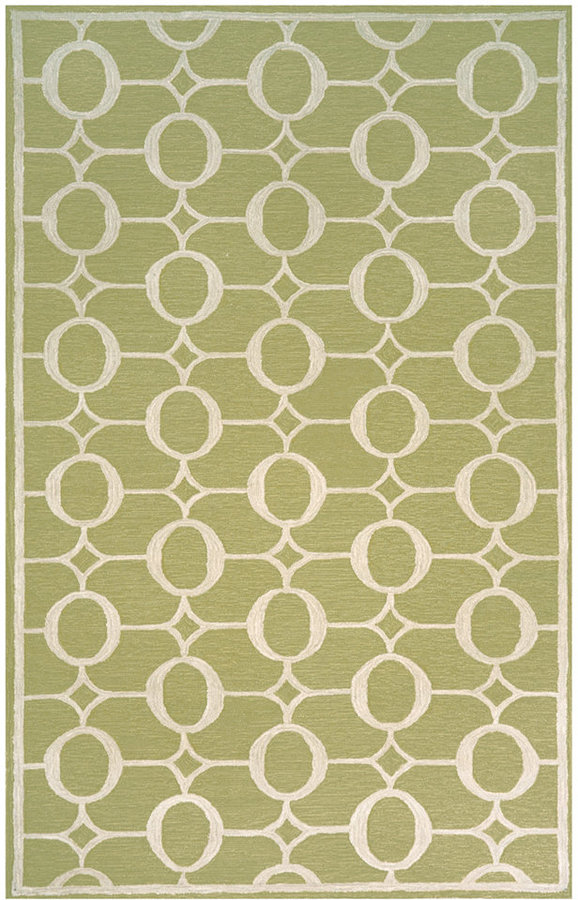 Liora Manné Area Rug, Indoor/Outdoor Promenade 2117/16 Arabesque Sage 2' x 8' Runner Rug