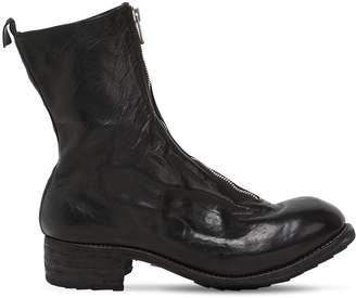 40mm Zip-Up Full Grain Leather Boots