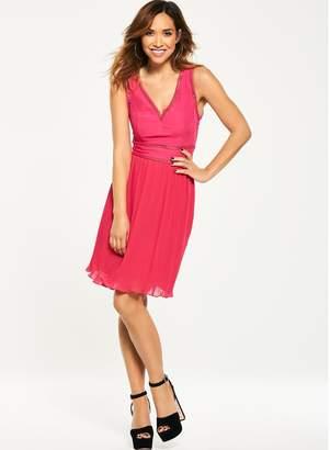 Myleene Klass V Front Pleat Skirt Dress