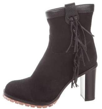 Valentino Shearling-Lined Ankle Boots