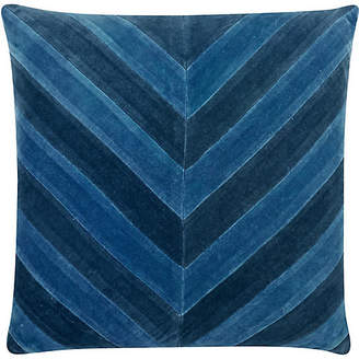 The Piper Collection Ryan 22x22 Velvet Pillow - Blue