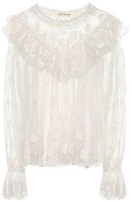 Ulla Johnson Lucien embroidered blouse