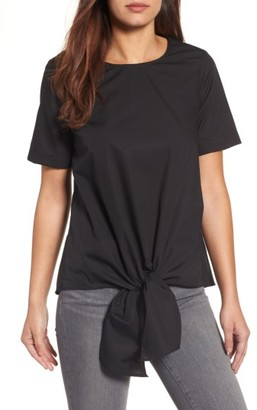 Women's Gibson Cotton Tie Front Top $59 thestylecure.com