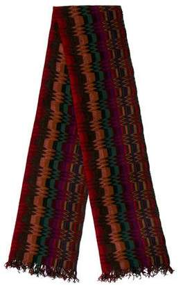 Missoni Pattern Knit Fringe Scarf