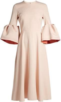 ROKSANDA Turlin bell-cuff fluted crepe-cady dress $1,265 thestylecure.com