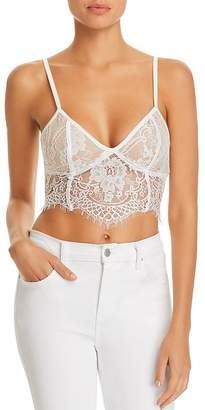 Tiger Mist Emery Lace Bustier Cropped Top