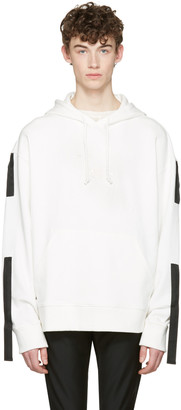 D.Gnak by Kang.D White Straps Hoodie $280 thestylecure.com
