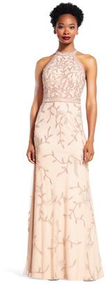 Adrianna Papell - Beaded Halter Neck Dress AP1E200275 $894 thestylecure.com
