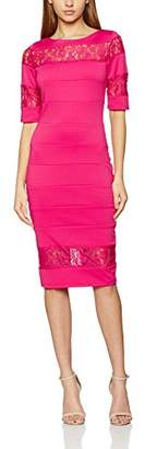 Paper Dolls Women's Raspberry Lace Insert Dress,8
