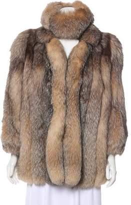 Fur Notch-Lapel Fox Jacket