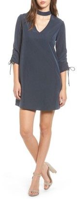 Women's Everly Ruched Choker Neck Dress $55 thestylecure.com