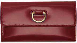 Burberry D-ring Patent Leather Continental Wallet