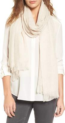 Nordstrom Caslon(R) Heathered Cashmere Gauze Scarf