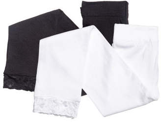 H&M 2-pack Leggings with Lace - White