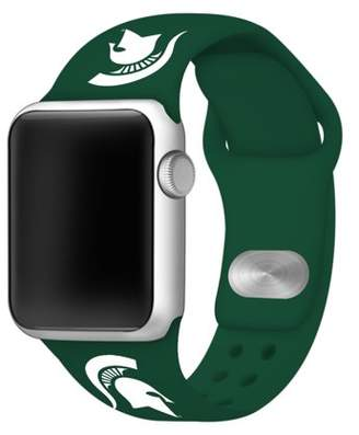 Affinity Bands Michigan State Spartans 42mm Silicone Sport Band fits Apple Watch - BAND ONLY