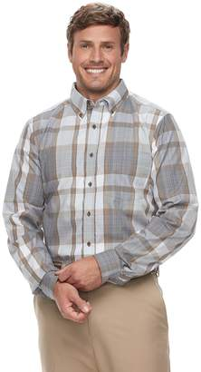 Haggar Big & Tall Weekender Classic-Fit Woven Button-Down Shirt