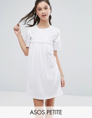 ASOS Petite ASOS PETITE Smock Dress with Ruffles $32 thestylecure.com