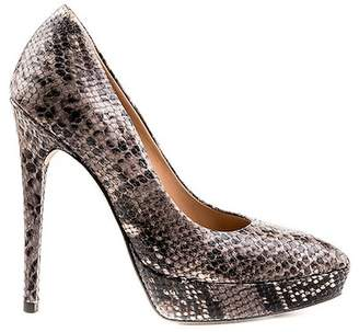Formentini Perla Zona Snake Embossed Leather Pump