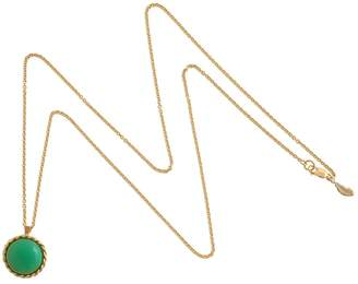 Harry Rocks - Luck Charm Long Layering Necklace Gold Chrysoprase