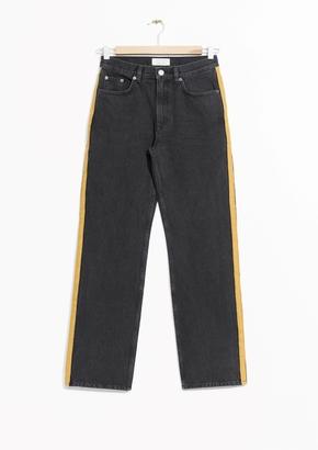 Denim Panel Jeans