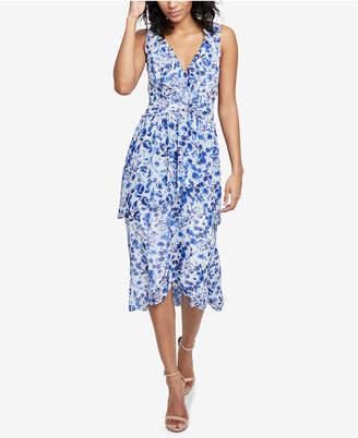 Rachel Roy Floral-Print Ruffled Dress, Created for Macy's