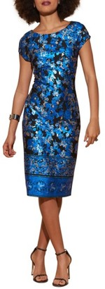 Women's Eci Cap Sleeve Scuba Sheath Dress $88 thestylecure.com