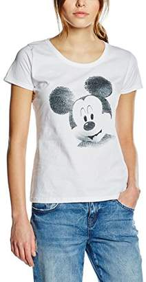 Disney Women's Mickey Mouse Text Face T-Shirt
