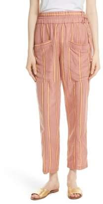 Apiece Apart Daniela Metallic Stripe Ankle Pants