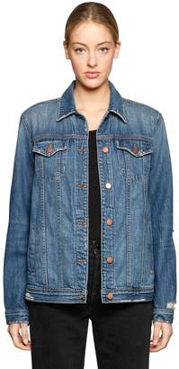 J Brand Cira Oversized Destroyed Denim Jacket