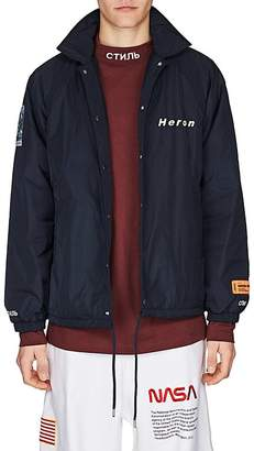 Heron Preston Men's Tech-Fabric Coach's Jacket