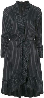 Marc Cain pinstripe ruffle dress