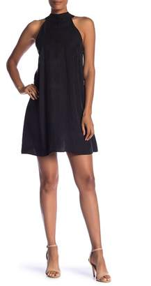 1 STATE 1.State Mock Neck Racerback Shift Dress