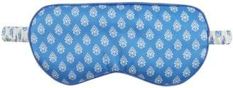 Derek Rose Brindisi 20 Printed Reversible Silk Satin Eye Mask - Womens - Blue Print