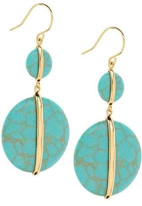 Gorjana Brinn Double Turquoise Disc Drop Earrings