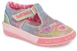 Lelli Kelly Kids Glitter Metallic T-Strap Mary Jane