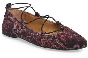 Women's Lucky Brand 'Aviee' Lace-Up Flat