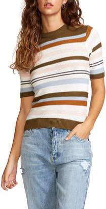 RVCA Nora Short Sleeve Stripe Sweater