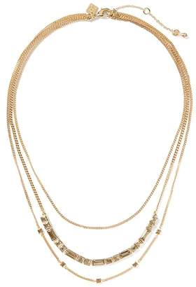 Banana Republic Delicate Baguette Multi-Strand Necklace