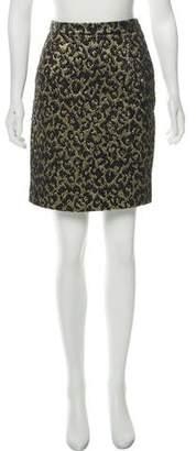 Michael Kors Metallic Cheetah Skirt