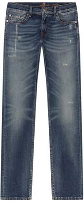 7 For All Mankind Ronnie Distressed Skinny Jeans
