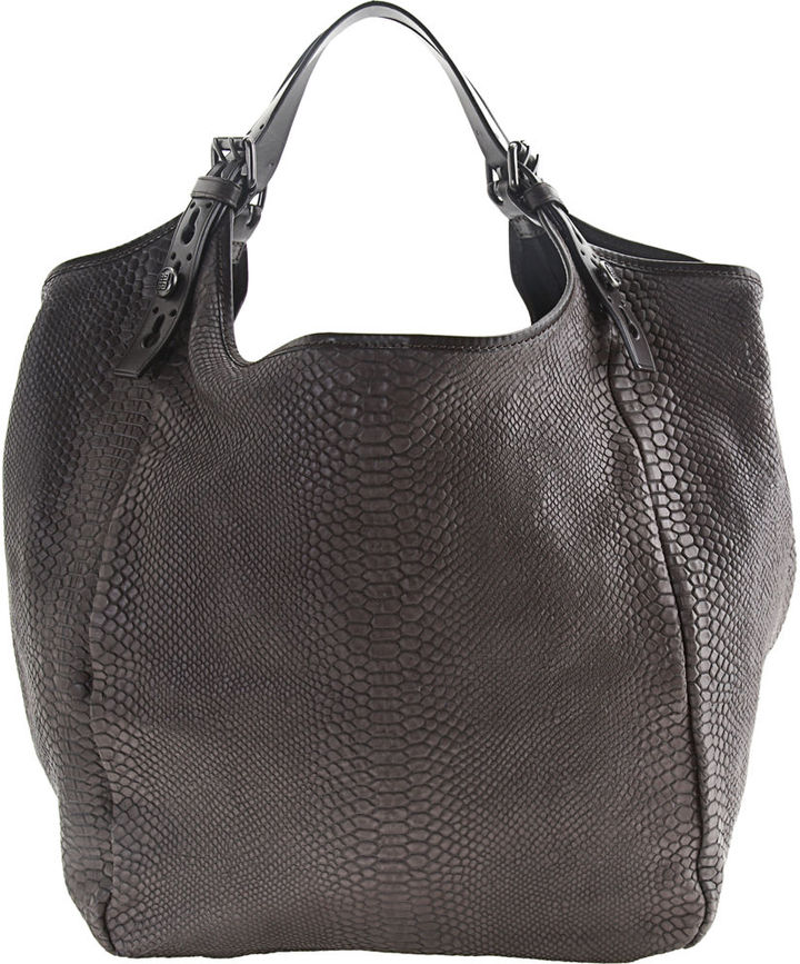 Givenchy Medium Textured Patent Caviar Tote - Brown