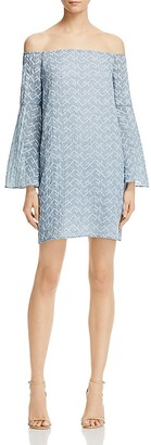AQUA Star Embroidered Off-the-Shoulder Dress - 100% Exclusive $88 thestylecure.com