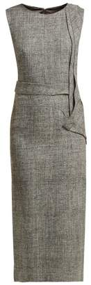 Carl Kapp - Nectar Folded Panel Midi Dress - Womens - Grey Multi