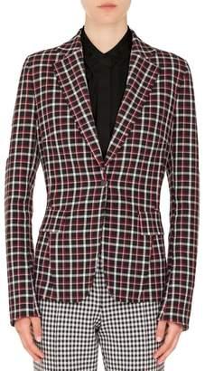 Akris Punto Checked Single-Button Blazer