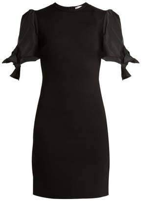 RED Valentino Abito Puff Sleeve Jersey Dress - Womens - Black