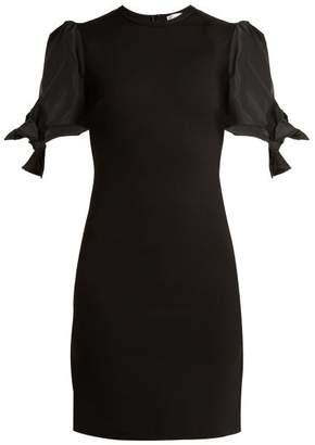 RED Valentino Abito Puff Sleeve Jersey Dress - Womens - Black