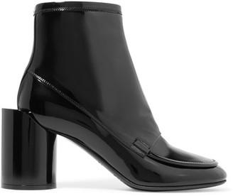 Maison Margiela - Patent-leather Ankle Boots - Black $1,190 thestylecure.com