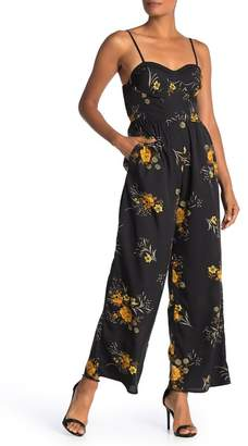 Band of Gypsies Floral Sweetheart Sleeveless Jumpsuit